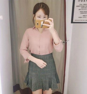 [买家秀] 优雅翻袖时尚暗扣衬衫
